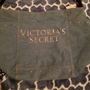 Victoria's Secret large denim bag